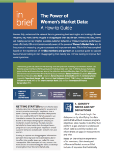 In Brief - Power of Women's Market Data
